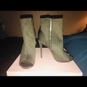 Olive Green Stiletto Boots!